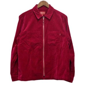 SUPREME(シュプリーム)18SS Velvet Zip Up Shirt ベルベットベロアジップロングスリーブシャツ ピンク|shopbring