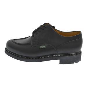 PARABOOT(パラブーツ)レザーラバーソールレースアップローカットブーツ ブラック シューズ 靴|shopbring