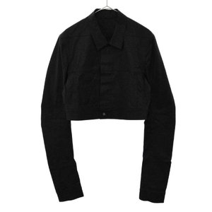 Rick Owens(リックオウエンス)18SS LITTLE JOE JKT ショート丈デニムジャケット ブルゾン ブラック|shopbring