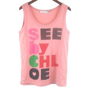 SEE BY Chloe(シーバイクロエ)プリントタンクトップ カットソー|shopbring