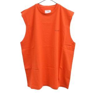 Gosha Rubchinskiy(ゴーシャラブチンスキー)GR-Uniform Unifoma Jersey   ロゴ ノースリーブ カットソー オレンジ|shopbring