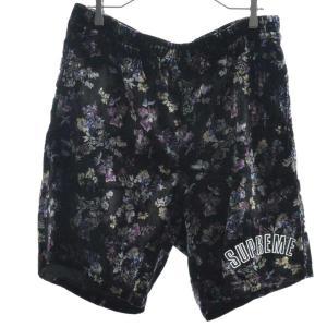 SUPREME(シュプリーム)19AW Floral Velour Short フローラルベロアショーツ ハーフパンツ|shopbring