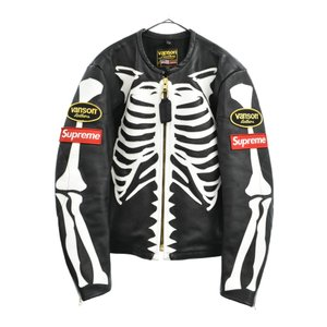 SUPREME(シュプリーム)17AW×VANSON バンソン  Leather Bones Jacket ボーンレザー ライダースジャケット|shopbring