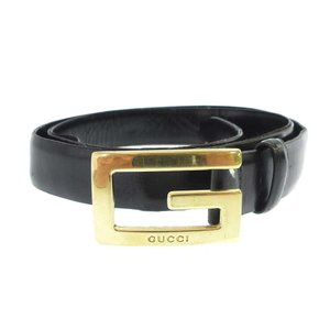 GUCCI(グッチ)Gゴールドバックルレザーベルト|shopbring
