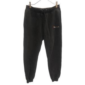 VETEMENTS (ヴェトモン) 16SS ×Champion Sweat Pants チャンピオン スウェットパンツ 刺繍ロゴ ブラック|shopbring