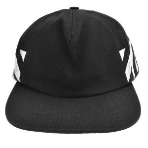 OFF-WHITE(オフホワイト)バイアスプリントベースボールキャップ ブラック|shopbring