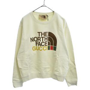 GUCCI(グッチ)21SS × THE NORTH FACE Cotton Sweatshirt コットン スウェット トレーナー アイボリー|shopbring