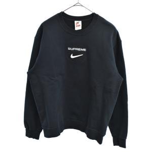 SUPREME(シュプリーム)20AW ×NIKE Jewel Crewneck CW9699-010 ナイキ フロントロゴ刺繍クルーネックスウェットトレーナー ブラック|shopbring