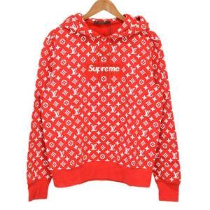 SUPREME(シュプリーム)17AW ×LOUISVUITTON  LV Box Logo Hooded Sweatshirt ボックスロゴプルオーバーパーカー