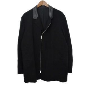 Y's for men(ワイズフォーメン )ジップレザーコートジャケット ブラック|shopbring