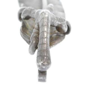 goro's(ゴローズ)銀爪金メタル付 特大フェザーネックレストップペンダント 左向き shopbring 06