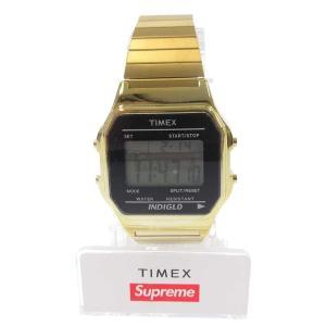 SUPREME(シュプリーム)19AW×Timex Digital Watch デジタルウォッチ ゴールドタイメックス 腕時計|shopbring