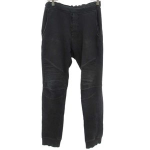 BALMAIN(バルマン)11SS Biker Sweat Pants W1HJ628B765 バイカースウェットパンツ チャコールグレー|shopbring