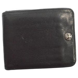 CHROME HEARTS(クロムハーツ)クロスボール付き1スナップウォレット 二つ折り財布 ブラック|shopbring