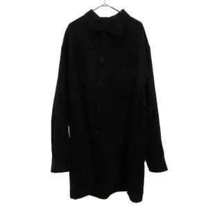 Yohji Yamamoto POUR HOMME (ヨウジヤマモト プールオム) 18SS ウールギャバジントッパーシャツジャケット HW-B46-100 ウールシャツコート|shopbring