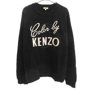 KENZO(ケンゾー)フロントロゴ刺繍クルーネックスウェットトレーナー|shopbring