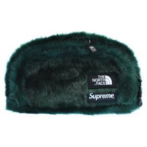 SUPREME (シュプリーム) 20AW ×THE NORTH FACE Faux Fur Waist Bag ノースフェイス ファーウエストバッグ ショルダーバッグ グリーン|shopbring