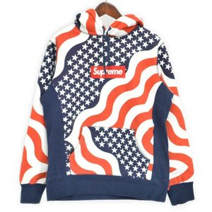 SUPREME(シュプリーム)14AW Box Logo Pullover Flag ボックスロゴ星条旗プルオーバーパーカー アメリカ|shopbring