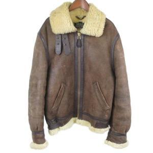 SCHOTT(ショット)B-3 ムートンレザージャケット ブラウン|shopbring