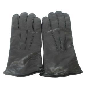 Sermoneta gloves(セルモネータグローブス)ブラックレザーグローブ ブラック 黒 レディース|shopbring