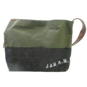 JAM HOME MEDE(ジャムホームメイド)スプレーロゴプリント バイカラー ショルダーバッグ shopbring