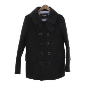 DSQUARED2(ディースクエアード)16AW メルトン ウール Pコート ジャケット ブラック shopbring