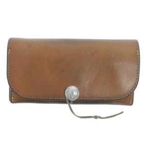 goro's(ゴローズ)バッファローコンチョ付き 二つ折り財布 レザーロングウォレット ブラウン|shopbring