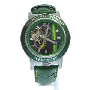 HUNTING WORLD(ハンティングワールド)アディッショナルタイム HW993 自動巻き腕時計 グリーン|shopbring