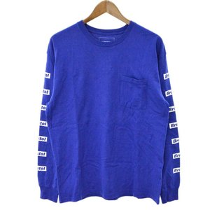 F.C.R.B./F.C.Real Bristol/FCRB(エフシーアールビー/エフシーレアルブリストル)17AW L/S GRADATION POCKET TEE ロゴプリント長袖Tシャツ ブルー FCRB-178065|shopbring