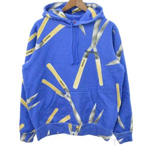 SUPREME(シュプリーム)19SS Shears Hooded Sweatshirts シザープリントプルオーバーパーカー ブルー フーディ|shopbring