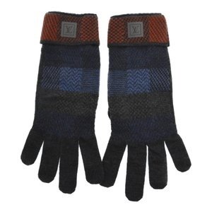 LOUIS VUITTON(ルイヴィトン)マルチカラーダミエ柄ウールグローブ グレー 手袋 M75384|shopbring