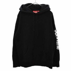 SUPREME(シュプリーム)17SS Sleeve Patch Hooded Sweatshirt スリーブパッチプルオーバーパーカー 袖ロゴ ブラック|shopbring