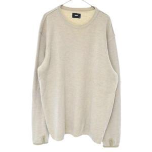 SOPHNET.(ソフネット)クルーネック ニット セーター SOPH-1239 オートミール|shopbring