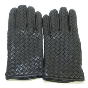 BOTTEGA VENETA(ボッテガヴェネタ)イントレチャート レザーグローブ 手袋|shopbring
