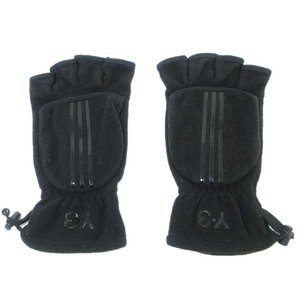 Y-3(ワイスリー)3ストライププリントフリースグローブ ブラック 手袋|shopbring