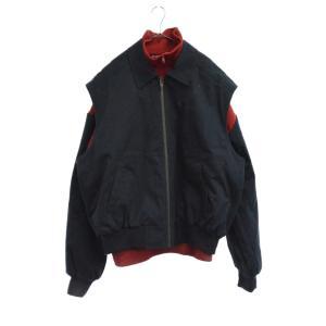 BALENCIAGA(バレンシアガ)19SS TWINSET BLOUSON ロゴ刺繍ジップアップジャケット ノースリーブジャケット ハイネックセーター|shopbring