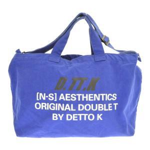 D.TT.K(ディーティーティーケー)2Wayキャンバスショルダーバッグ ブルー トートバッグ shopbring