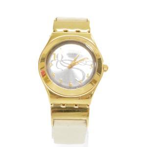SWATCH(スウォッチ)IRONY 007 OCTPUSSY ブレスレットバンド付クオーツウォッチ ゴールド 腕時計 ダブルオーセブン|shopbring
