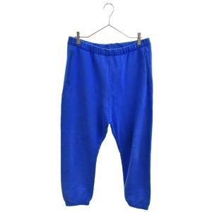 BALENCIAGA(バレンシアガ)17SS 460616 TUK08 ロゴ刺繍サルエルスウェットロングパンツ ブルー|shopbring