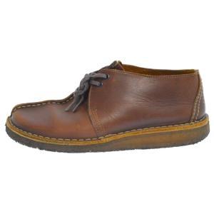 Clarks(クラークス)ワラビーモカシンレザーショートブーツ ブラウン 13292|shopbring