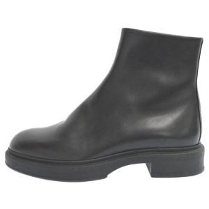 HERMES(エルメス)スカイ ヴォーパティネ ジップアップレザーショートブーツ サイドゴアブーツ ブラック 182331|shopbring