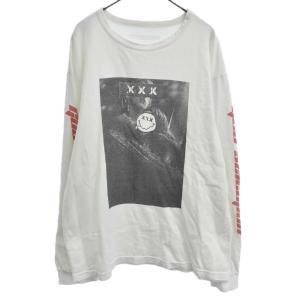 GOD SELECTION XXX (ゴッドセレクショントリプルエックス) 17SS フォトプリント長袖Tシャツ ホワイト カットソー GX-S17-0001-LS-006|shopbring