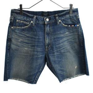 GLAMB by glamb(グラム バイ グラム)GG17SM/P02 Selvage denim shorts ポケット刺繍カットオフデニムショートパンツ ショーツ インディゴ|shopbring