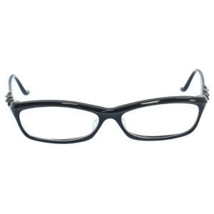CHROME HEARTS (クロムハーツ) BEARDED BABY-A クロステンプルメガネフレーム ブラック 眼鏡 ※度入り|shopbring