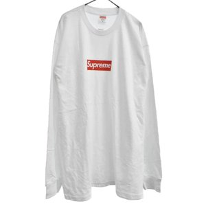 SUPREME (シュプリーム) 20AW Box Logo L/S Tee ボックスロゴ長袖Tシャツ ロンT カットソー ホワイト|shopbring