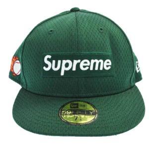 SUPREME(シュプリーム)18SS×NEW ERA Mesh Box Logo Cap メッシュボックスロゴ刺繍ベースボールキャップ グリーン|shopbring