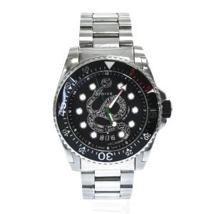 GUCCI (グッチ) DIVE ダイブ スネーク文字盤クォーツ腕時計 シルバー|shopbring