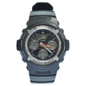 CASIO G-SHOCK (カシオ ジーショック) アナログ腕時計 AW-590 ブラッ|shopbring
