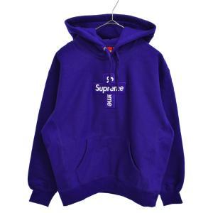SUPREME(シュプリーム)20AW Cross Box Logo Hooded Sweatshirt Purple クロスボックスロゴ プルオーバースウェットパーカー パープル|shopbring