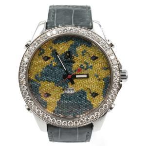 Jacob&Co. (ジェイコブ) 5タイムゾーン ワールドマップ 時計 SS クォ|shopbring